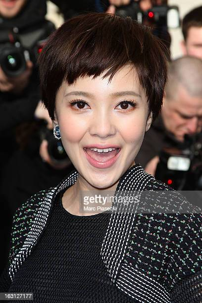 Amber Kuo arrives to attend the 'Chanel' Fall/Winter 2013 ReadytoWear show as part of Paris Fashion Week at Grand Palais on March 5 2013 in Paris...