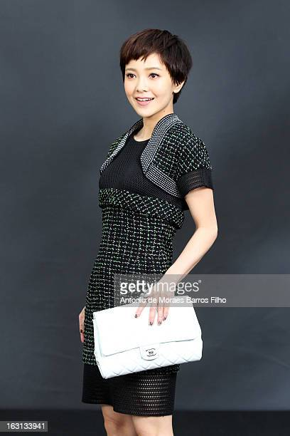 Amber Kuo attends Chanel Fall/Winter 2013 ReadytoWear show as part of Paris Fashion Week at Grand Palais on March 5 2013 in Paris France