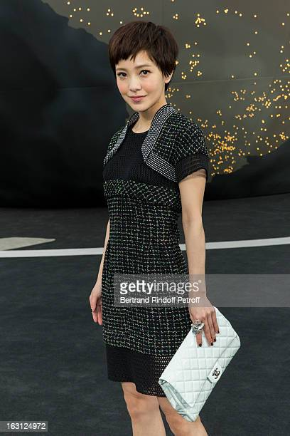 Amber Kuo attends the Chanel Fall/Winter 2013 ReadytoWear show as part of Paris Fashion Week at Grand Palais on March 5 2013 in Paris France