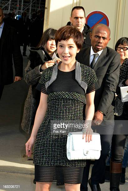 Amber Kuo attends the Chanel Fall/Winter 2013 ReadytoWear show as part of Paris Fashion Week at the Grand Palais on March 5 2013 in Paris France