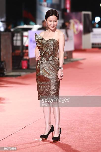 Amber Kuo attends the red carpet of the 48th Golden Bell Award on Friday October 252013 in TaipeiChina