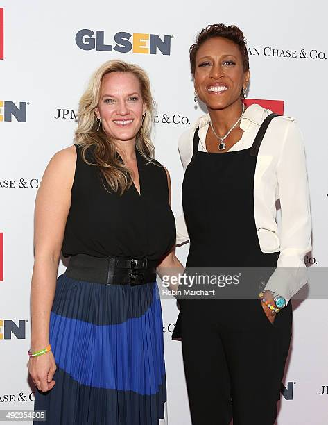 Amber Laign and Robin Roberts attend 11th Annual GLSEN Respect awards at Gotham Hall on May 19 2014 in New York City