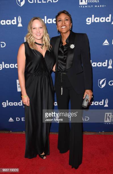 Amber Laign and Robin Roberts attend the 29th Annual GLAAD Media Awards at The Hilton Midtown on May 5 2018 in New York City