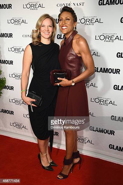 Amber Laign and Robin Roberts attend the Glamour 2014 Women Of The Year Awards at Carnegie Hall on November 10 2014 in New York City