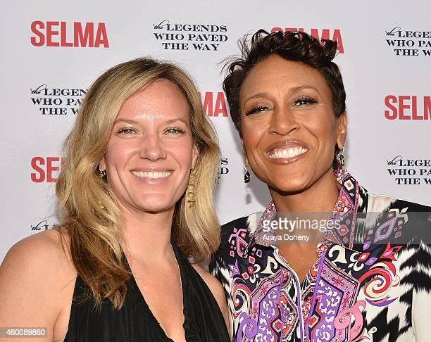 Amber Laign and Robin Roberts attend the Selma and The Legends Who Paved The Way Gala at Bacara Resort on December 6 2014 in Goleta California