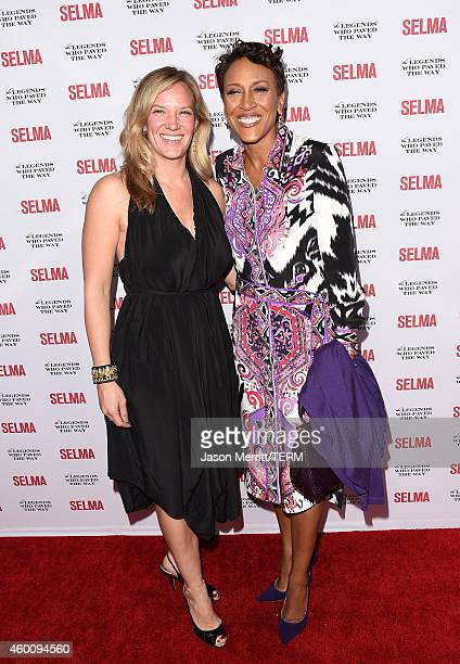 Amber Laign and Robin Roberts attend the 'Selma' and the Legends Who Paved the Way gala at Bacara Resort on December 6 2014 in Goleta California
