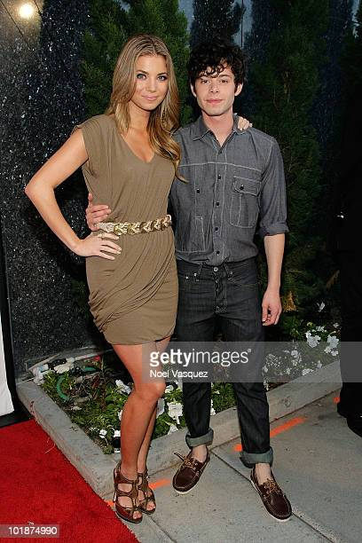 Amber Lancaster and Paul Iacono attend the launch party for MTV's 'The Hard Times Of RJ Berger' and 'Warren The Ape' on June 7 2010 in West Hollywood...