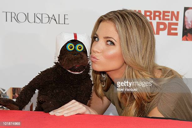 Amber Lancaster and Warren Demontague attend the launch party for MTV's 'The Hard Times Of RJ Berger' and 'Warren The Ape' on June 7 2010 in West...