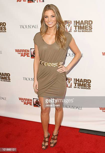 Amber Lancaster arrives at the MTV Series Premiere of The Hard Times of RJ Berger and Warren The Ape at Trousdale on June 7 2010 in West Hollywood...