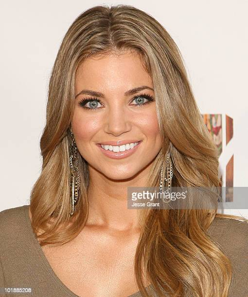 Amber Lancaster arrives at the MTV Series Premiere of 'The Hard Times of RJ Berger' and 'Warren The Ape' at Trousdale on June 7 2010 in West...
