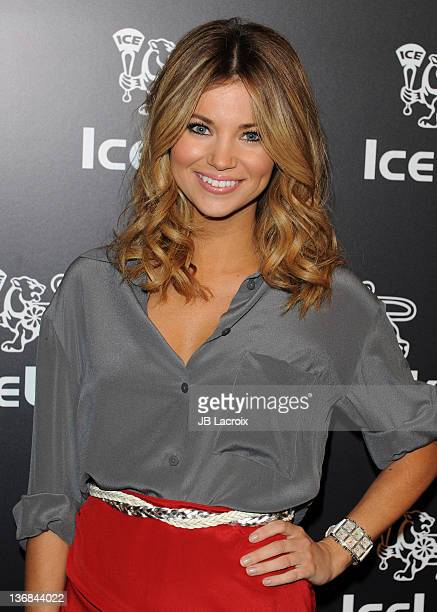 Amber Lancaster attends the IceLink Flagship Store Opening at IceLink Boutique on January 11 2012 in Los Angeles California