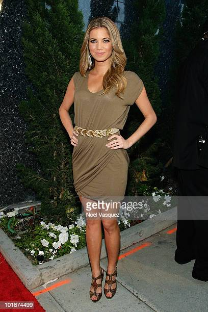 Amber Lancaster attends the launch party for MTV's 'The Hard Times Of RJ Berger' and 'Warren The Ape' on June 7 2010 in West Hollywood California