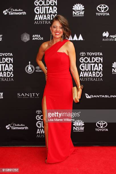 Amber Lawrence arrives at the 2018 Toyota Golden Guitar Awards on January 27 2018 in Tamworth Australia