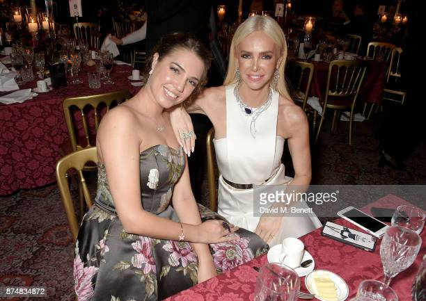 Amber Le Bon and Amanda Cronin attend the Leopard Awards in Aid of the Prince's Trust at Goldsmith's Hall on November 15 2017 in London England