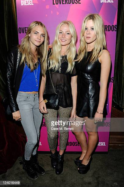 Amber Le bon and Becky Tong attend the Diesel Fragrance Launch Party at The Box Soho on September 7 2011 in London England