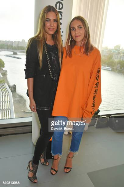 Amber Le Bon and Becky Tong attend the Emporio Armani You Fragrance launch at Sea Containers on July 20 2017 in London England