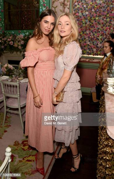 Amber Le Bon and Clara Paget attend LoveShackFancy x Harrods Dinner at Annabel's London on November 27 2018 in London England