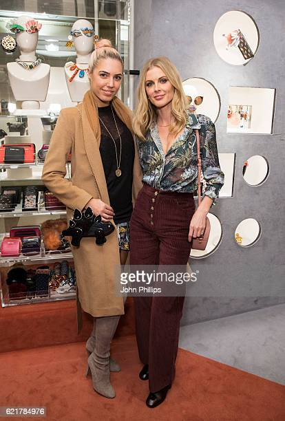 Amber Le Bon and Donna Air attend the Bimba Y Lola Regent Street pop up store launch on November 8 2016 in London England