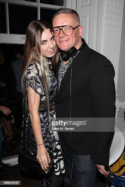 Amber Le Bon and Giles Deacon attend Molton Brown and Giles Deacon launch event at the ICA on April 17 2013 in London England