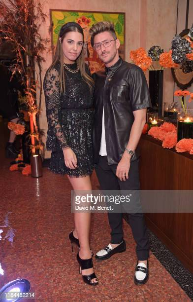 Amber Le Bon and Henry Holland attend Ella Canta's Day of the Dead celebration on October 30 2019 in London England