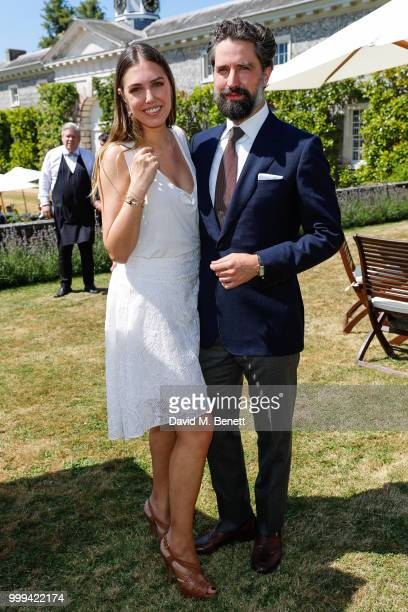 Amber Le Bon and Jack Guinness attend Cartier Style Et Luxe at The Goodwood Festival Of Speed Goodwood on July 15 2018 in Chichester England