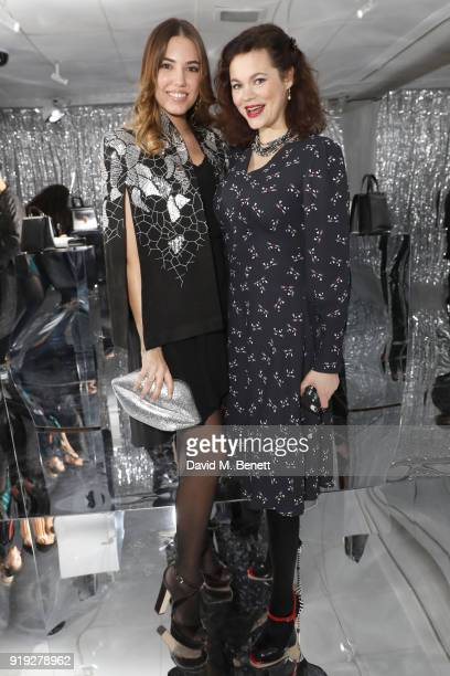 Amber Le Bon and Jasmine Guinness attend the Lulu Guinness AW18 London Fashion Week presentation on February 17 2018 in London England