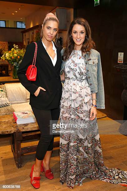 Amber Le Bon and Rosanna Falconer attend the book launch of Matthew Williamson Fashion Print Colouring by Laurence King Publishing at Anthropologie...
