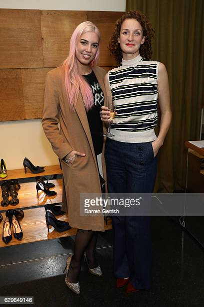 Amber Le Bon and Rowan Routh attend the Rupert Sanderson festive Christmas Lunch at Bruton Place on December 14 2016 in London England