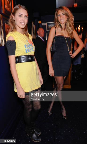 Amber le Bon and Sabrina Percy attends the launch party of Tatler's Little Black Book at Tramp on November 5 2008 in London England