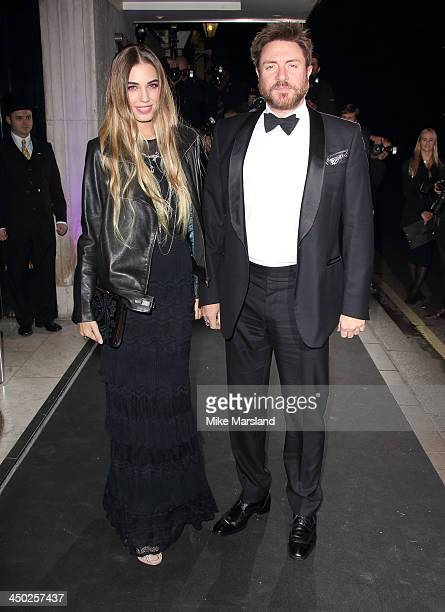 Amber Le Bon and Simon Le Bon attends the Evening Standard Theatre Awards at The Savoy Hotel on November 17 2013 in London England