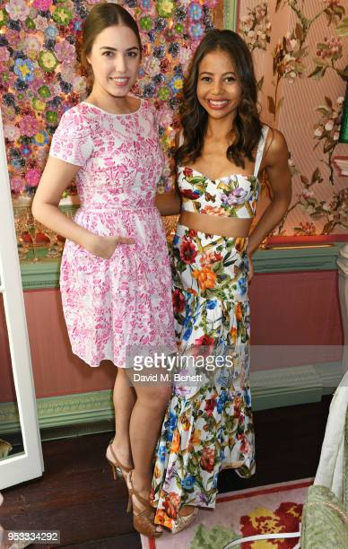 Amber Le Bon and Viscountess Emma Weymouth attend the launch of BeeBazaarcouk supported by PerrierJouet at Annabel's on May 1 2018 in London England