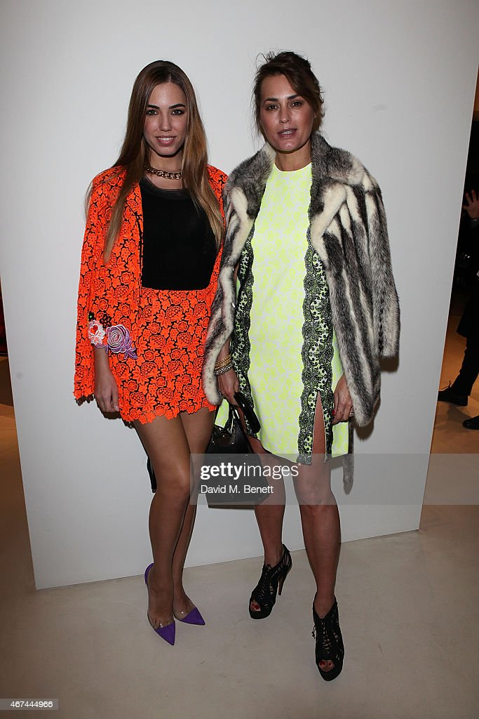 Amber Le Bon and Yasmin Le Bon attend the opening of Christopher Kane's London Flagship store on March 24, 2015 in London, England.