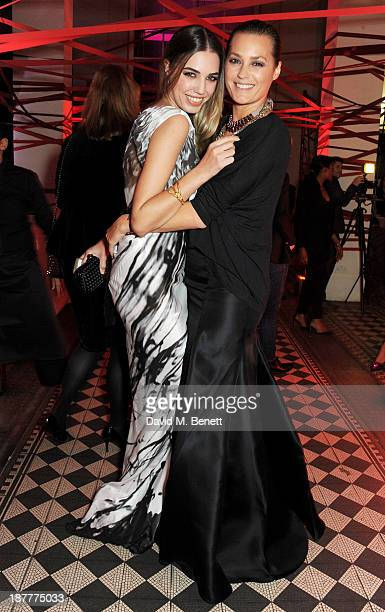 Amber Le Bon and Yasmin Le Bon attend the Tunnel of Love fundraiser in aid of the British Heart Foundation at One Mayfair on November 12 2013 in...