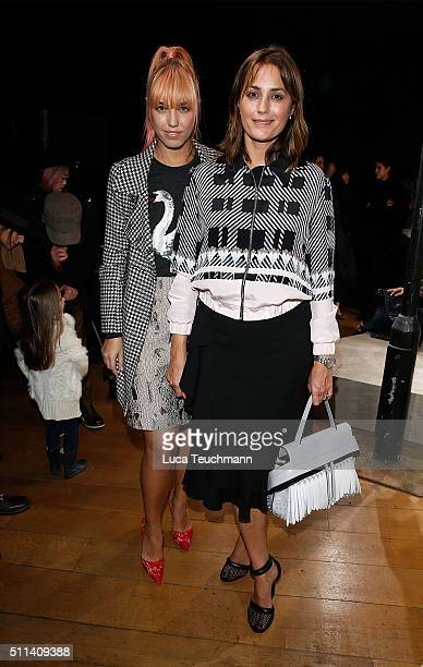Amber Le Bon and Yasmin Le Bon attends the Markus Lupfer show during London Fashion Week Autumn/Winter 2016/17 at on February 20 2016 in London...