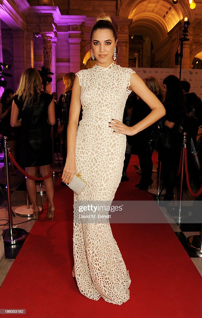 Amber Le Bon arrives at The WGSN Global Fashion Awards at the Victoria & Albert Museum on October 30, 2013 in London, England.