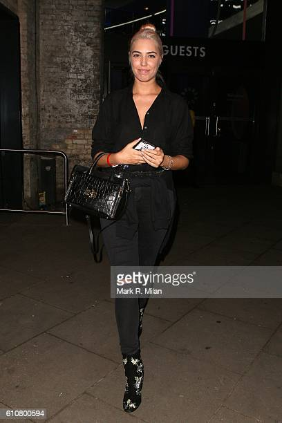 Amber Le Bon at the Roundhouse for the Apple Music Britney Spears Concert on September 27 2016 in London England