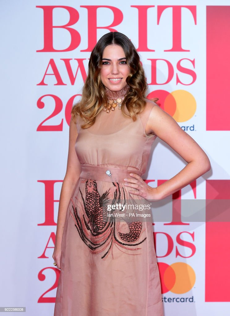 Amber Le Bon attending the Brit Awards at the O2 Arena, London.