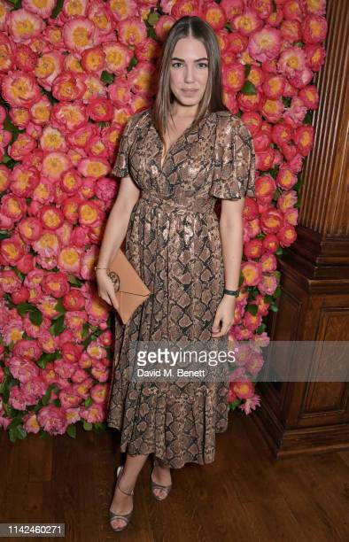 Amber Le Bon attends a private dinner hosted by Michael Kors to celebrate the new Collection Bond St Flagship Townhouse opening on May 9 2019 in...