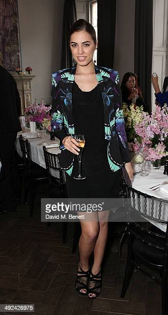 Amber Le Bon attends a private lunch hosted by Sacha Forbes in association with Sybarite jewellery at The Arts Club on May 20 2014 in London England