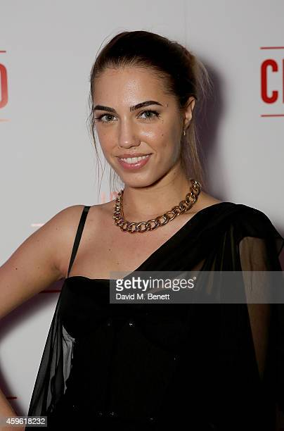 """Amber Le Bon attends an exclusive party to celebrate the imminent arrival of """"City Island by Ballymore"""" - a new island neighbourhood for London which..."""