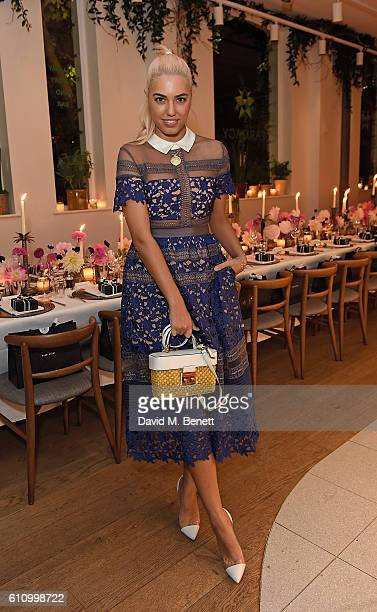 Amber Le Bon attends Bobbi Brown Cosmetics 25th Anniversary dinner at Farmacy on September 28 2016 in London England