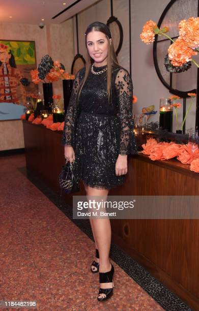 Amber Le Bon attends Ella Canta's Day of the Dead celebration on October 30 2019 in London England
