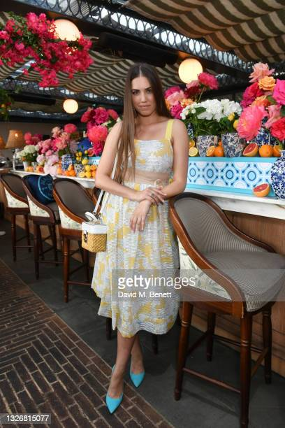 Amber Le Bon attends Malfy Staycation at The Ned on July 03, 2021 in London, England.