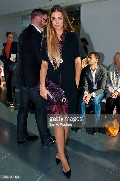 Amber Le Bon attends the Antonio Berardi show during London Fashion Week SS14 at on September 16 2013 in London England