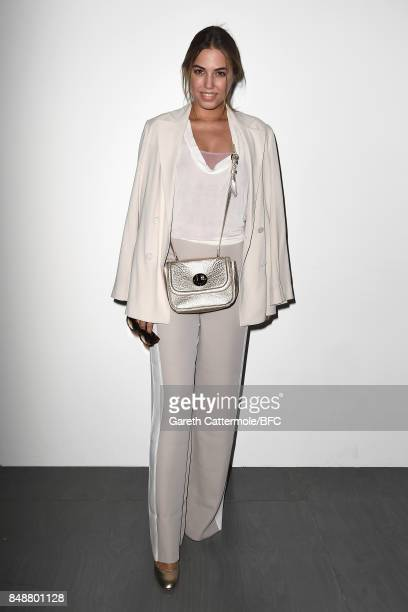 Amber Le Bon attends the Antonio Berardi show during London Fashion Week September 2017 on September 18 2017 in London England