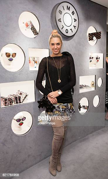 Amber Le Bon attends the Bimba Y Lola Regent Street pop up store launch on November 8 2016 in London England