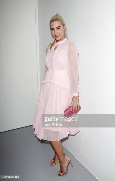 Amber Le Bon attends the Bora Aksu show during London Fashion Week February 2017 collections on February 17 2017 in London England