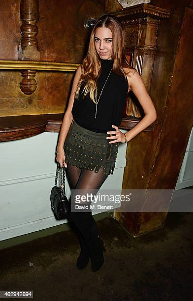 Amber Le Bon attends The Box 4th Birthday Party in partnership with Belvedere Vodka at The Box on February 7 2015 in London England
