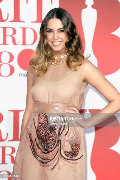 AWARDS 2018*** Amber Le Bon attends The BRIT Awards 2018 held at The O2 Arena on February 21 2018 in London England