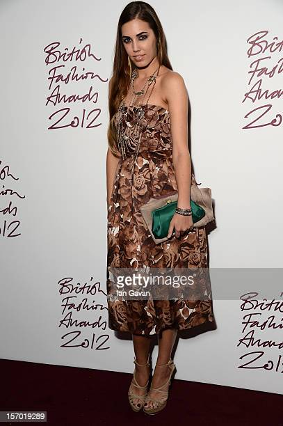 Amber Le Bon attends the British Fashion Awards 2012 at The Savoy Hotel on November 27 2012 in London England